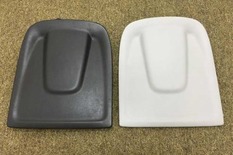 Audi Q5 Seating Fabric Over-Mould produced by SM1050-TP Injection Molding Machine