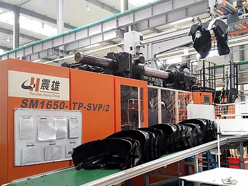 Volkswagen Protective Guard  produced by SM1650-TP Injection Molding Machine