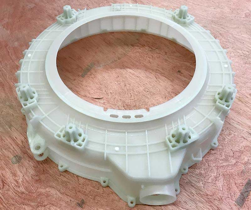 Haier Washing Machine Tub Part produced by ChenHsong JM1600-C3-SVP/2 Injection Molding Machine