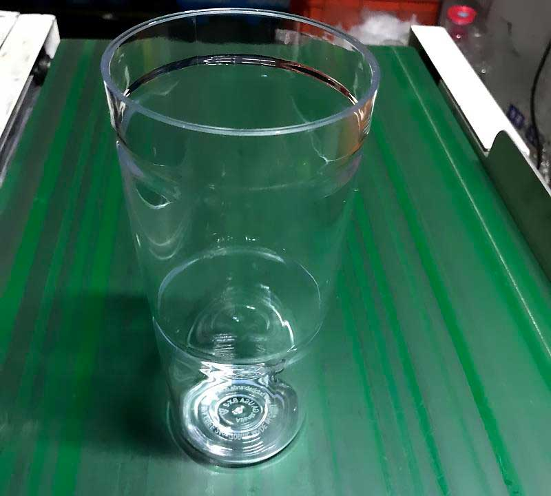 PCTG Glasses produced by ChenHsong EM320-SVP/2 Injection Molding Machine