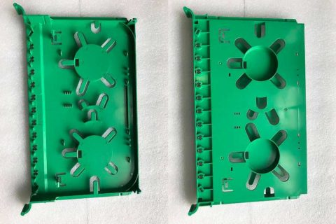 Electronics Fuse Box Enclosures produced by ChenHsong EM220-SVP/2 Injection Molding Machine