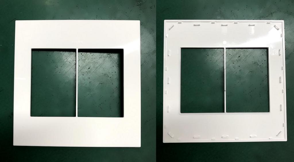 Legrand Wall Switch Covers produced by ChenHsong JM98-Ai Injection Molding Machine