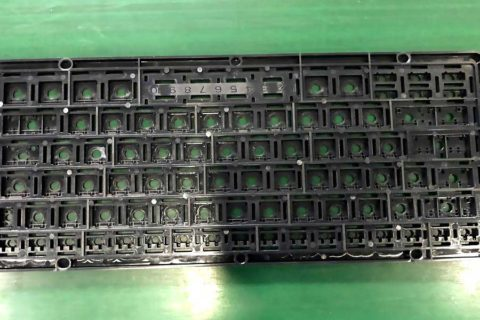 The appearance of PC-keyboard-bases produced by JM168-MK6-Injection Molding Machine