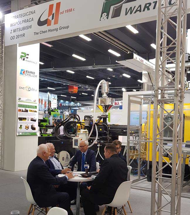 The stand was very successful. It was visited by a large group of regular customers who confirmed their attachment to Chen Hsong injection molding machines.