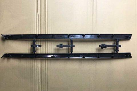 Molding-automotive-front-door-exterior-trims--backside