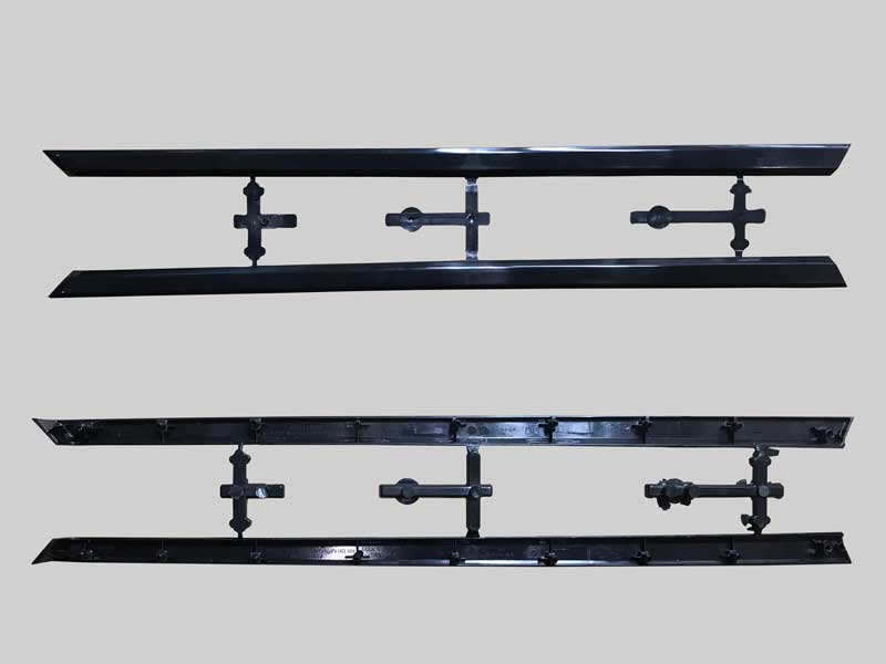 Molding automotive front door exterior trims produced by ChenHsong EM SVP/2 Injection Molding Machines