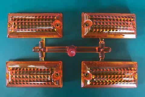 Molding-automotive-turn-signal-lampshade-frontside